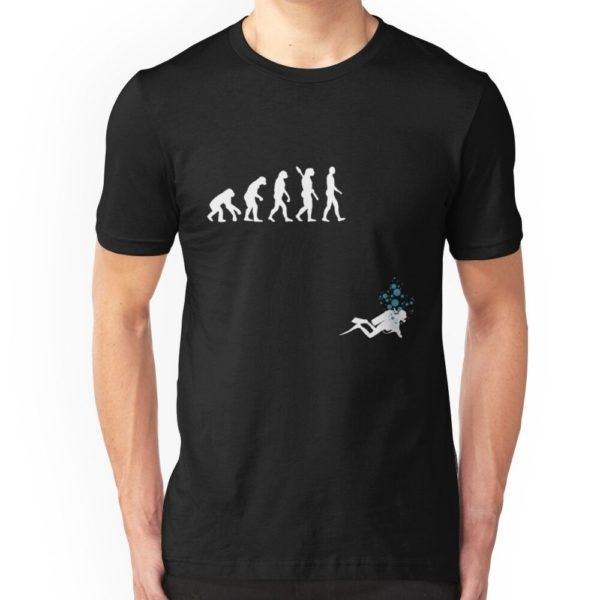 Evolution of Man Funny Scuba Diving T-Shirt